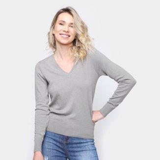 Blusa Tricot Hering Básica Feminina
