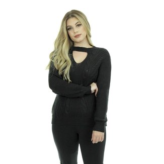 Blusa Tricot Liz Feminina Tricot Shopping do Tricô Inverno