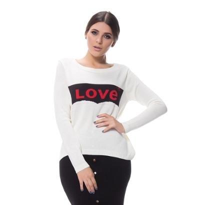 Blusa Tricot Logan Jacar Love Feminina-Feminino
