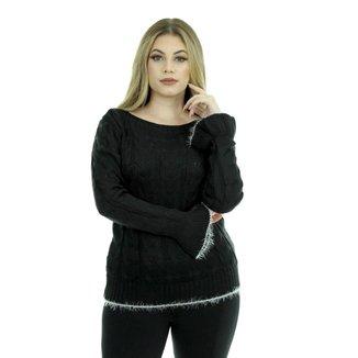 Blusa Tricot Taianara Feminina Inverno Shopping do Tricô