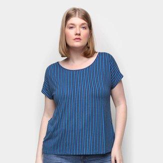 Blusa Wee! Plus Size Básica Geomértica Feminina
