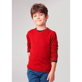 Blusão Básico Infantil Masculino Modelagem Sueter Em Algodão Hering Kids