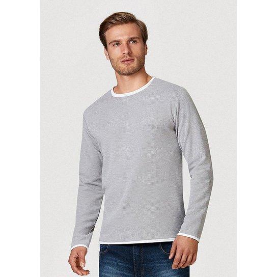 Blusão Em Tricô Modelagem Slim Hering Masculino - Cinza