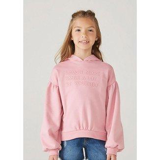 Blusão Infantil Menina Em Moletom Com Bordado - 54P6NMCEN9