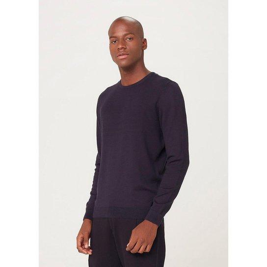 Blusão Masculino Básico Em Tricô De Algodão - K0WGEAISI5 - Azul