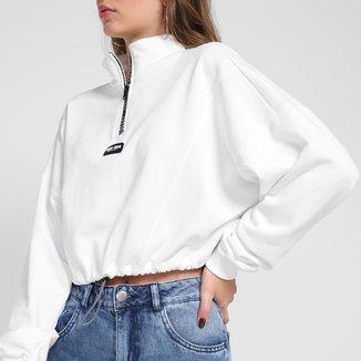 Blusão Moletom Colcci Cropped Feminino