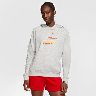 Blusão Nike Sportwear Fleece Print Graphic Feminino