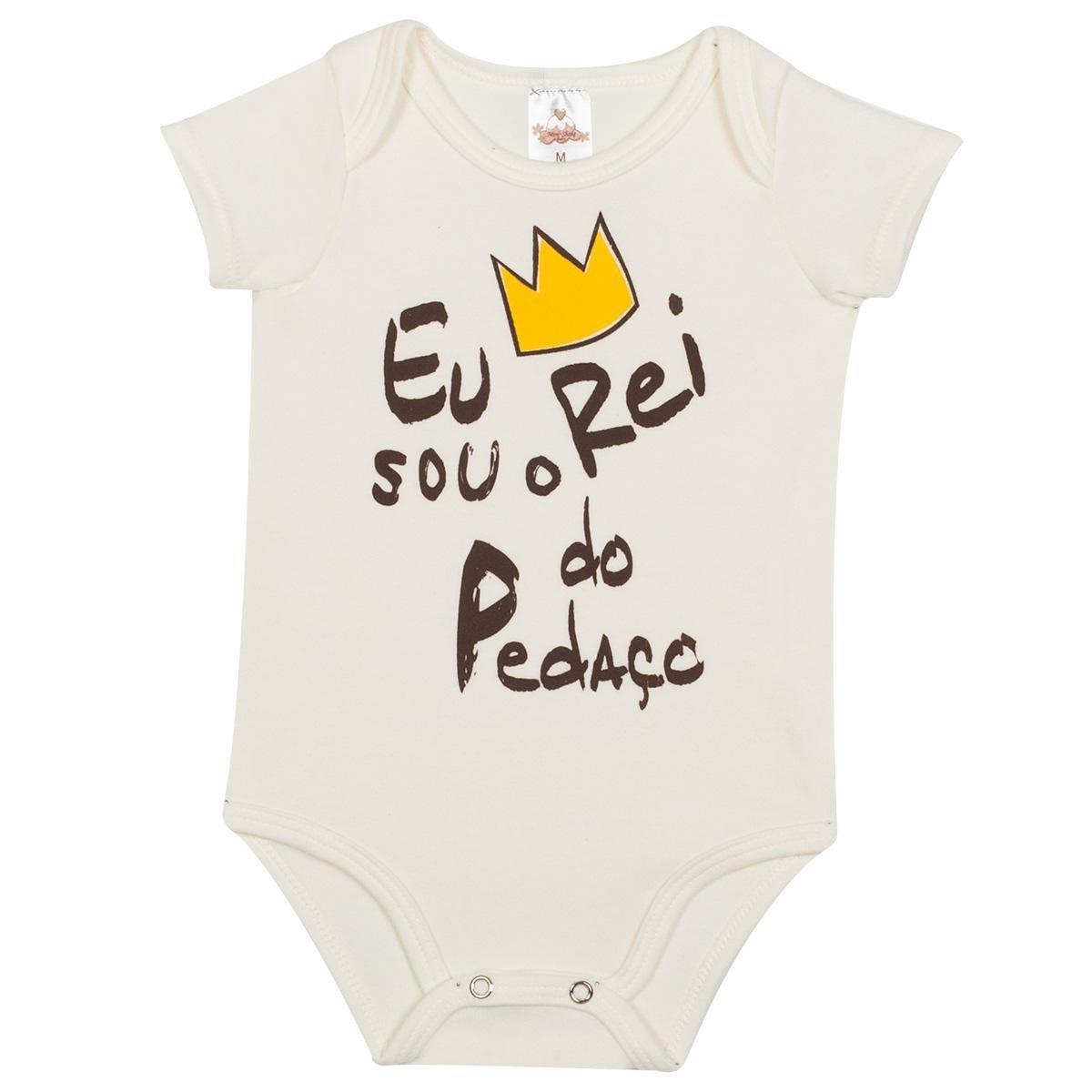 8b034a264 Body Bebê Algodão Mini Shake Rei do Pedaço Masculino | Zattini
