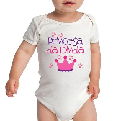 Body Bebe Frases Princesa Da Dinda Madrinha Meninas Criativa Urbana