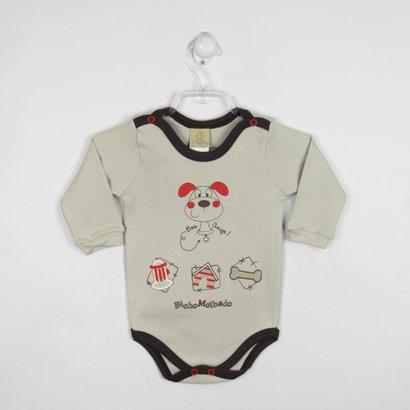 Body Bebê Manga Longa Cachorrinho