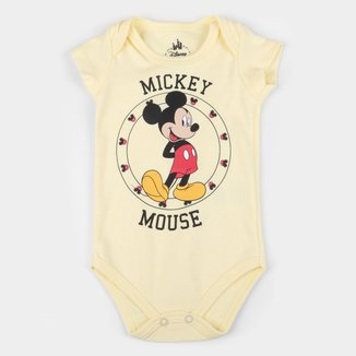 Body Bebê Marlan Disney Mickey Mouse Masculino