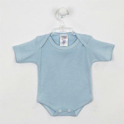 Body Bebê Masculino Manga Curta Azul Claro-P