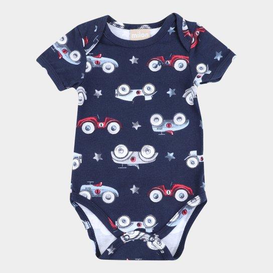 Body Bebê Milon Estampado Masculino - Marinho