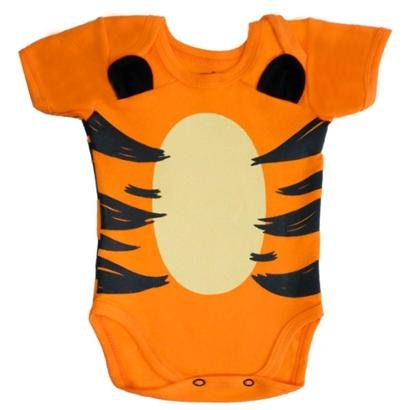 Body Bebê PiftPaft Tigre Orelhas 3D Fantasia