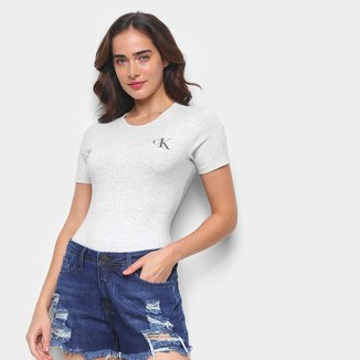 Body Calvin Klein CK One Basic Manga Curta Feminino