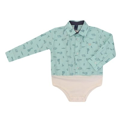 Body - Camisa Masculino Bebê Manga Longa