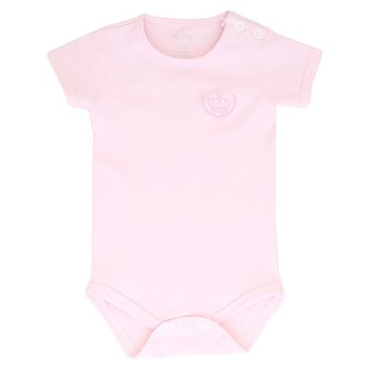 Body Cotton Manga Curta Colibri Unique Rosa-Feminino