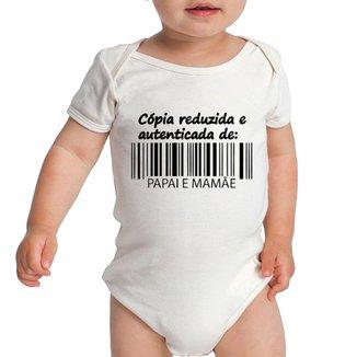 Body Criativa Urbana  Bebê Frases Engraçadas Cópia do Papai e Mamãe