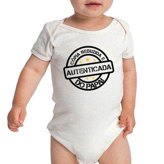 Body Criativa Urbana Bebê Frases Engraçadas Cópia do Papai Pai