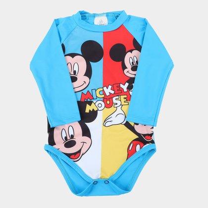 Body de Praia Bebê Manga Longa Disney Mickey Mouse UV50+ Masculino