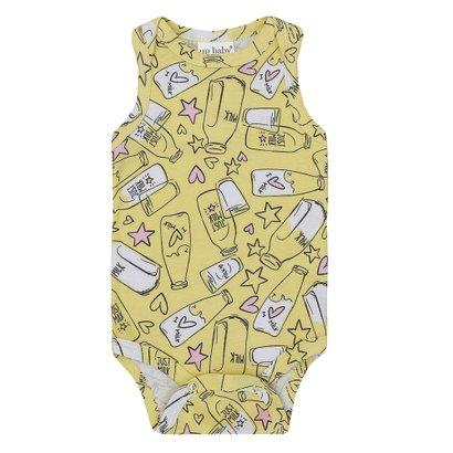 Body Infantil Cavado Suedine Milk Feminina
