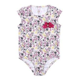 Body Infantil Para Menina - Rosa/estampado