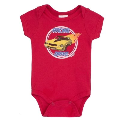 Body Masculino Up Baby Carro Vermelho