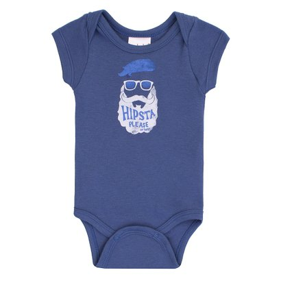 Body Masculino Up Baby Hipsta Azul