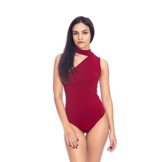 Body Moda Vício Gola Alta Um Ombro Só Feminino
