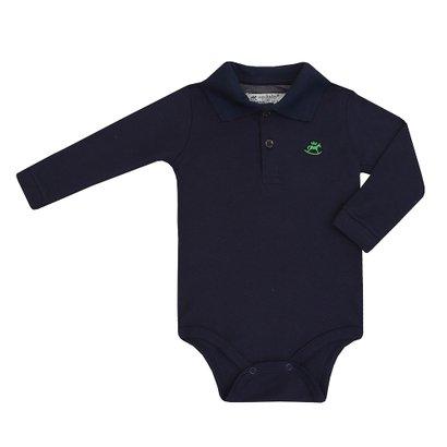 Body Polo Masculino Bebê Suedine