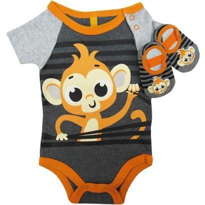Body Puket Bebê Manga Curta + Sapatilha Puket Masculino