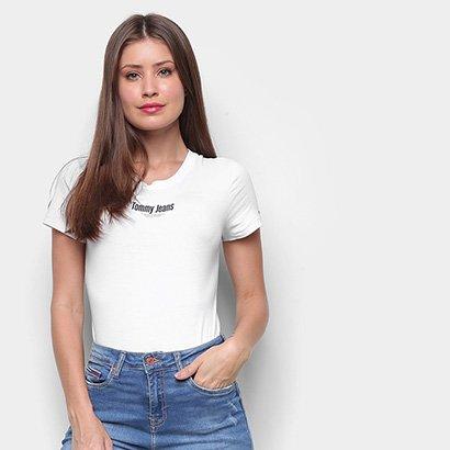 Body Tommy Jeans Shortsleeve Logo Bodysuit - Zattini BR