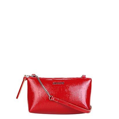 Bolsa Anacapri Mini Bag Verniz Alça Corrente Feminina - Feminino - Vermelho - COD. L47 - 0489 - 016