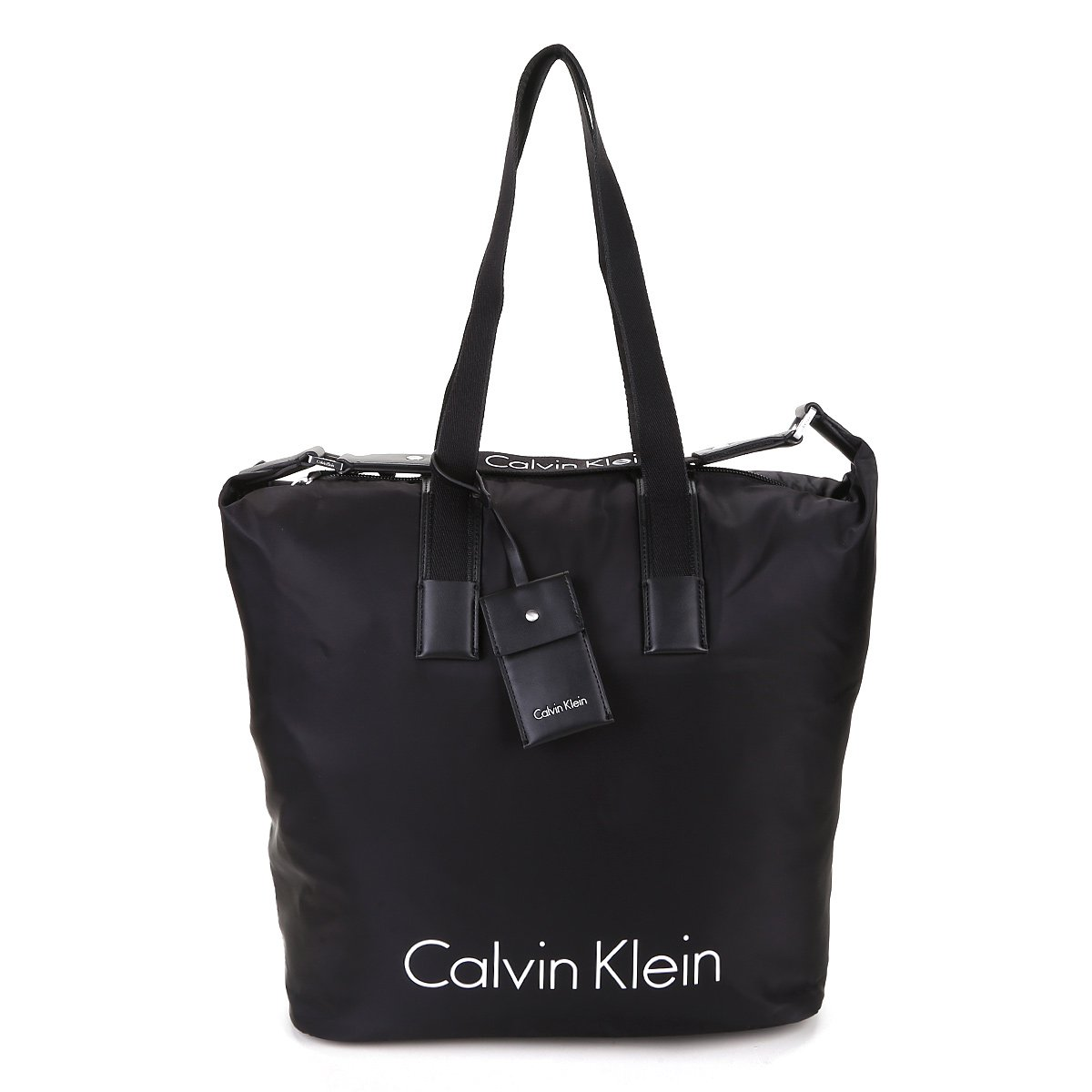 1103a2b909f27 Bolsa Calvin Klein Shopper Grande Nylon Feminina - Preto - Compre ...