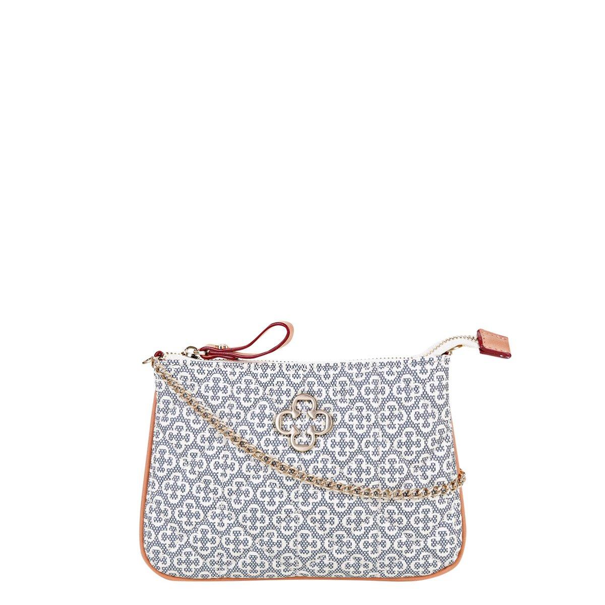 0bbdf2324 Menor preço em Bolsa Capodarte Mini Bag Monograma Alça Corrente Matelassê  Feminina - Azul e Bege