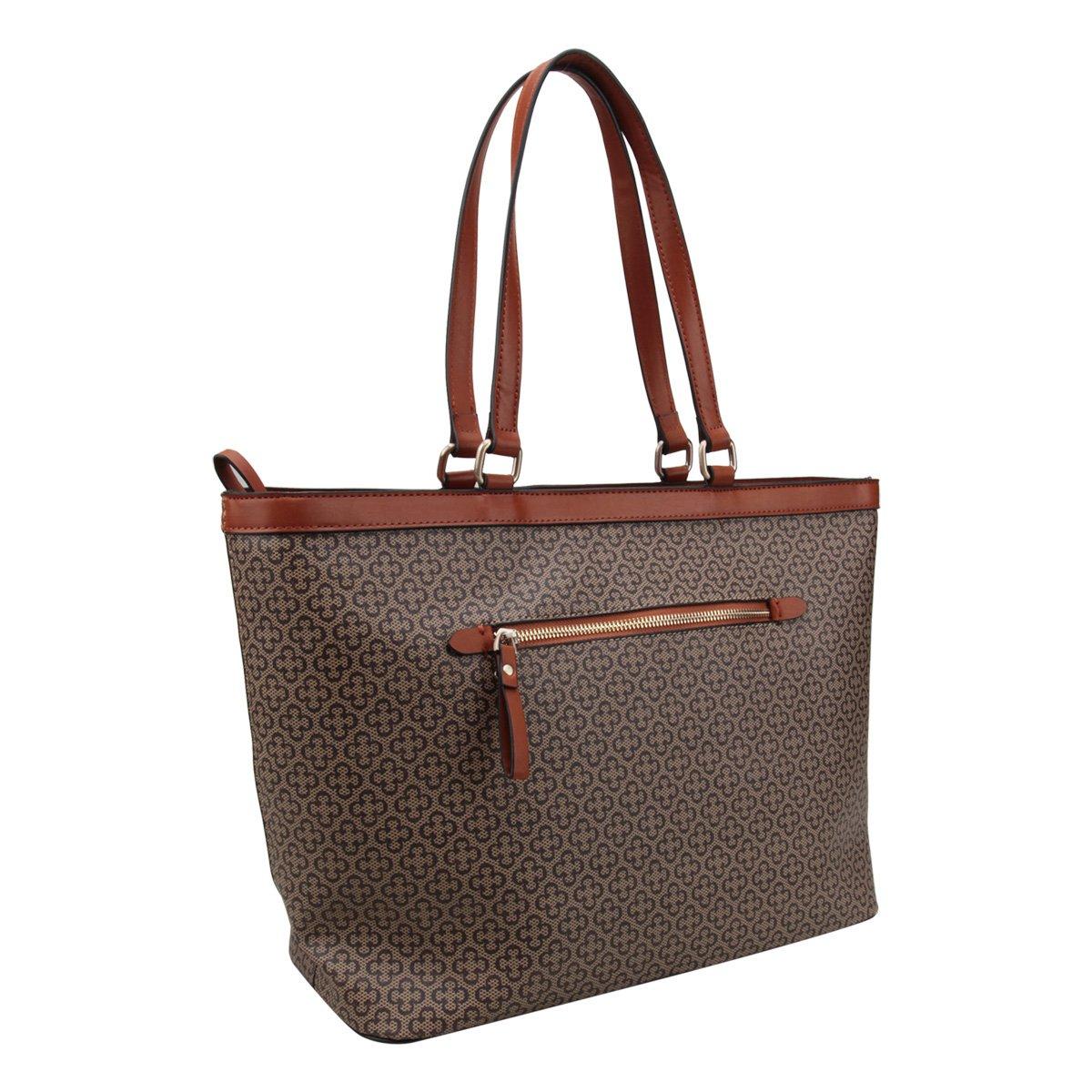 Bege Bolsa Feminina Monograma Capodarte Shopper Capodarte Bolsa Yq1nwFT