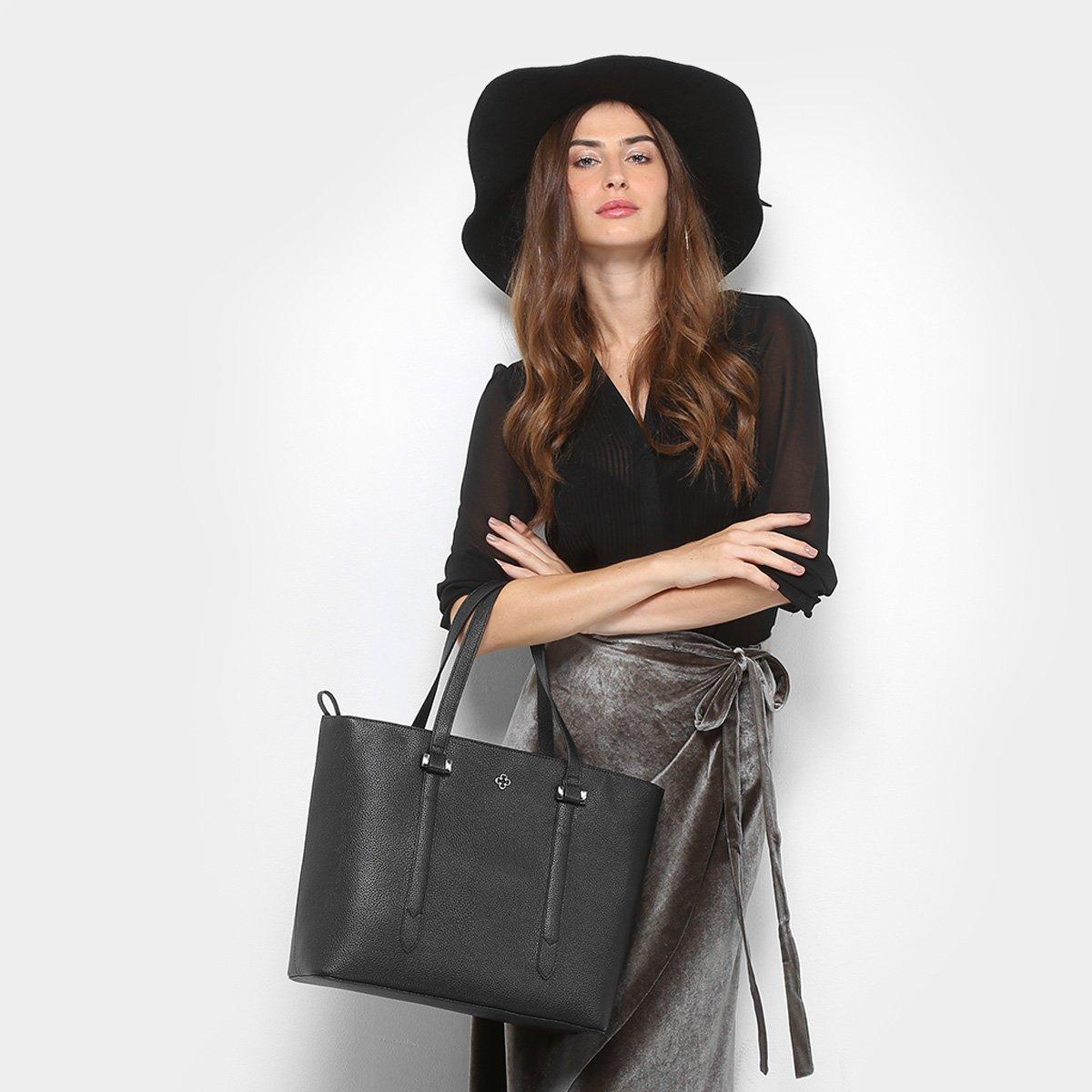 Bolsa Capodarte Shopper Preto Shopper Feminina Bolsa Capodarte Soft Relax RqnSS5Tp4