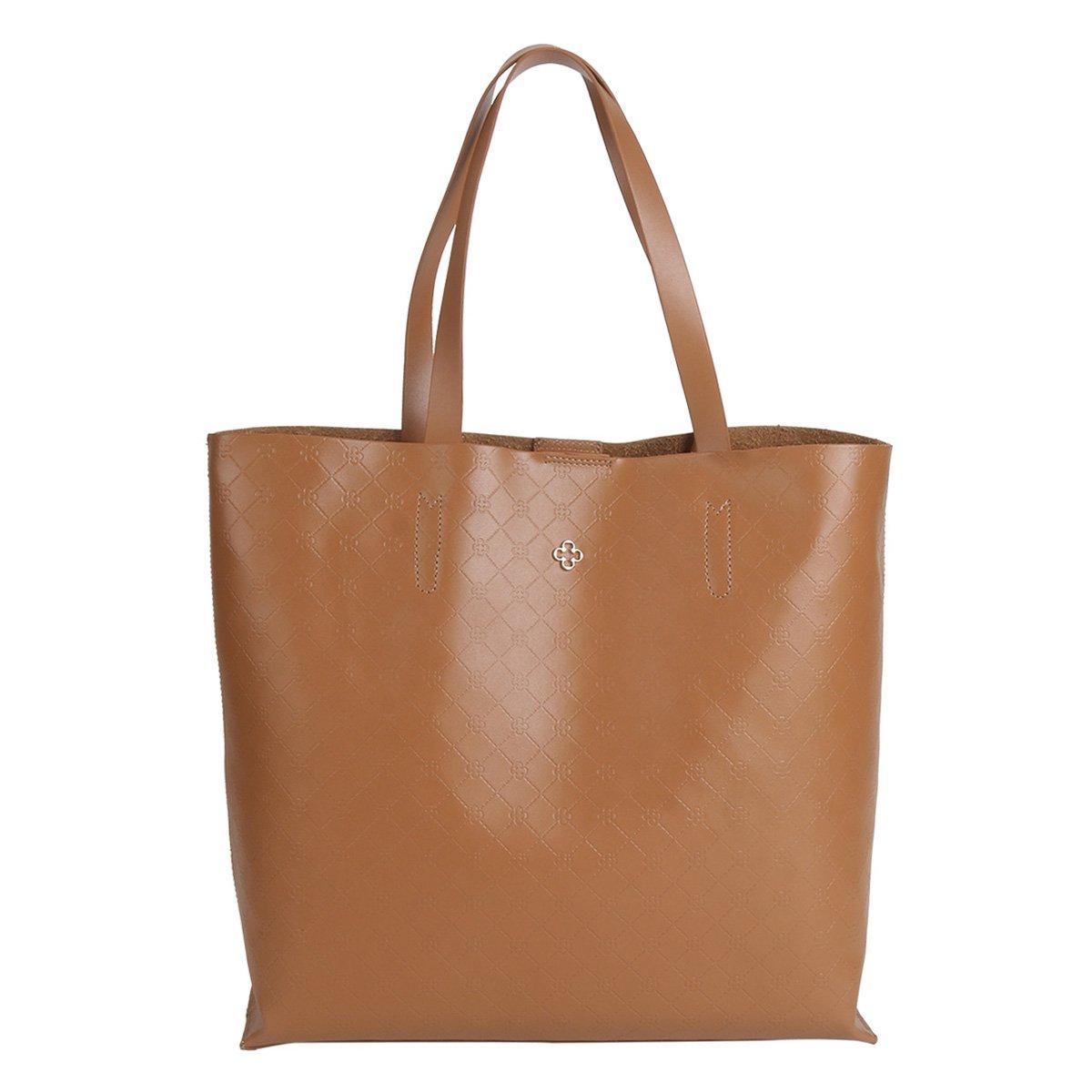 abc2d92c9 Bolsa Capodarte Tote - Shopper Monograma Plaquinha Feminina - Marrom |  Zattini