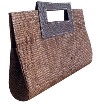 c3414379fd Bolsa Carteira de Mão em Palha de Buriti-Feminino
