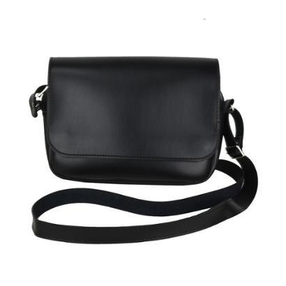 Bolsa Chá De Mulher     Transversal Black Leather-Feminino