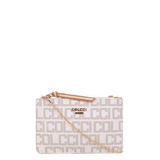 Bolsa Colcci Mini Bag Envelope Monograma Feminina