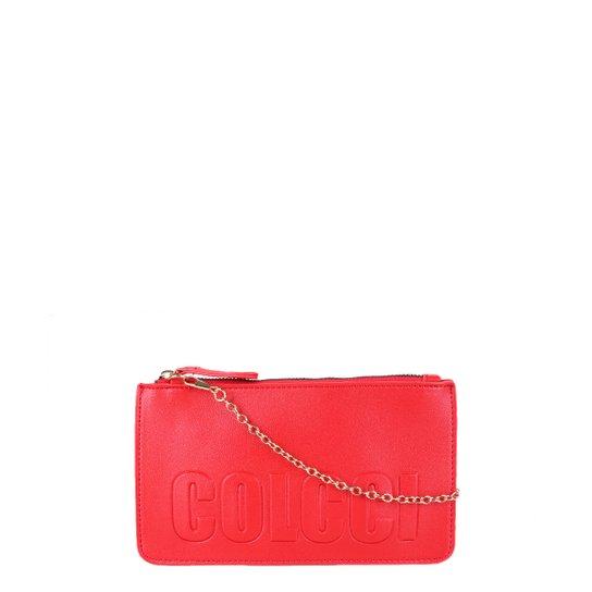 Bolsa Colcci Mini Bag Logo Alça Corrente Feminina - Vermelho