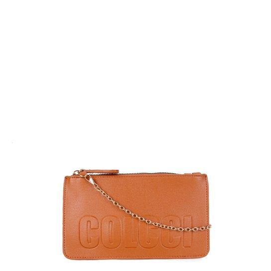 Bolsa Colcci Mini Bag Logo Alça Corrente Feminina - Caramelo