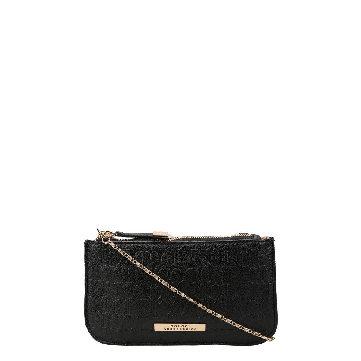 e872a4353 Bolsa Colcci Mini Bag Tiracolo Alça Corrente Placa Feminina