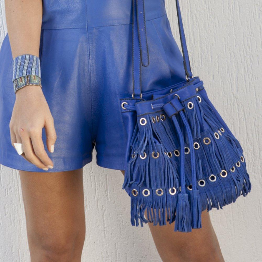 e com Bolsa Bolsa Franja Bolsa Franja Azul com Azul Ilhoses com e Ilhoses e Franja d1wqdF