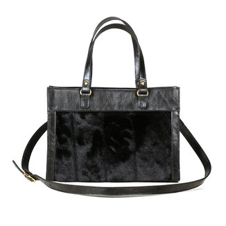 Bolsa Couro Blue Bags Satchel
