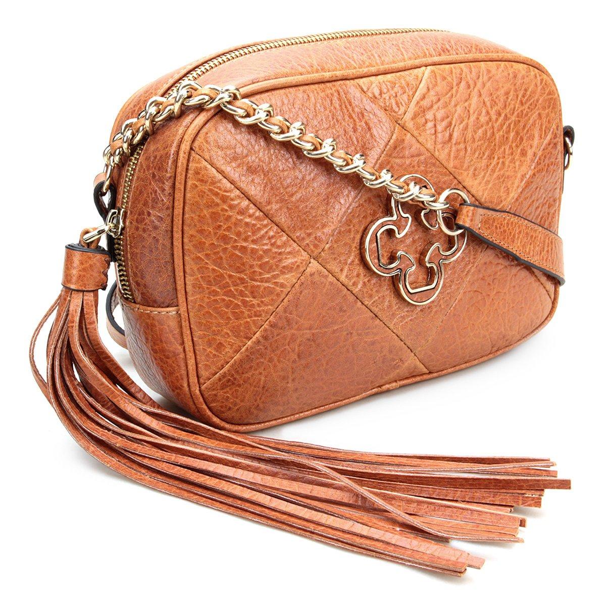 Mini Caramelo Bolsa Couro Capodarte Bag Capodarte Couro Feminina Mini Bolsa dwz1TH
