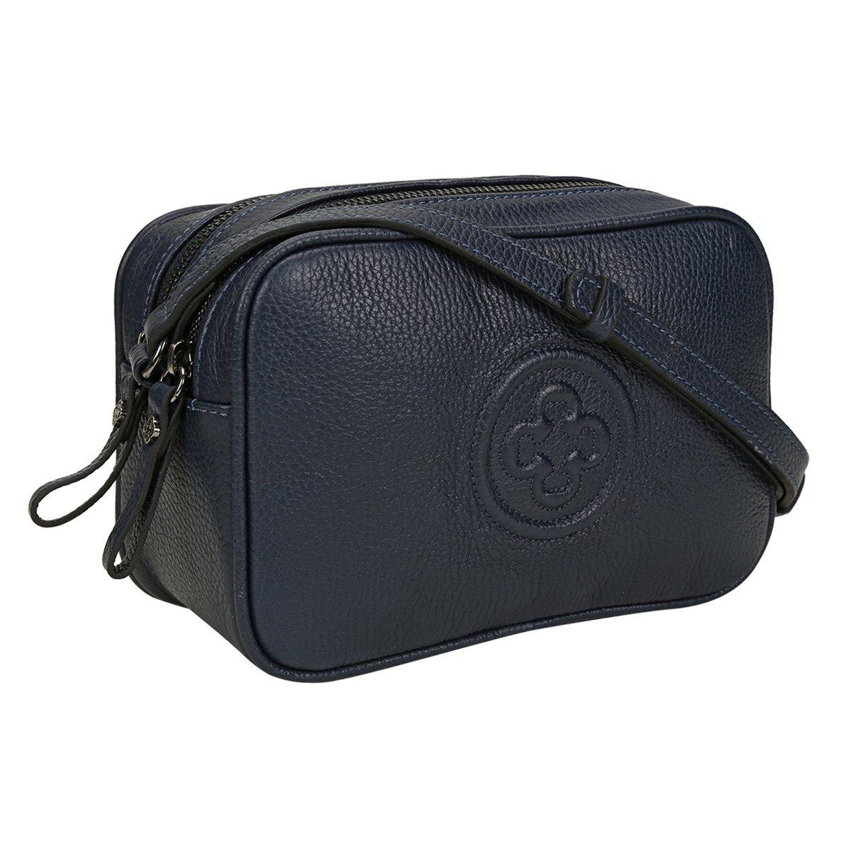 Mini Feminina Mini Capodarte Bolsa Monograma Marinho Couro Capodarte Bolsa Bag Couro Bag 14qdpwxf1