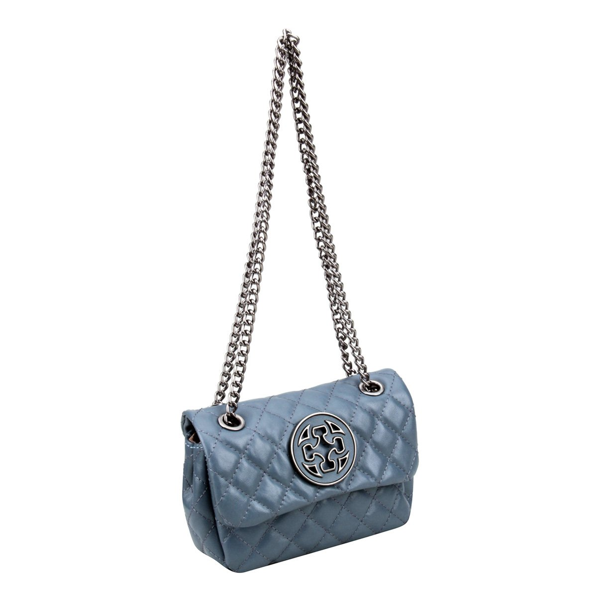 Bolsa Feminina Vitello Capodarte Azul Matelassê Couro Bolsa Couro 4aYqgCn4wr