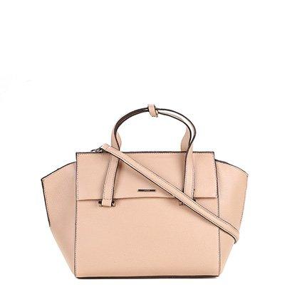 Bolsa Couro Carmim Shopper Feminina